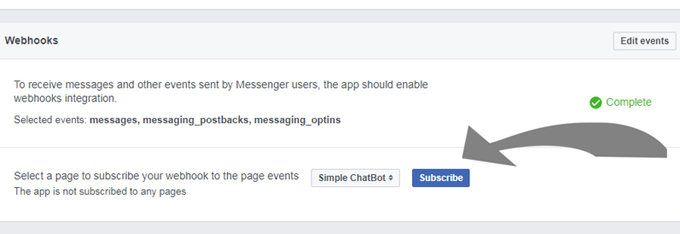 16. Press subscribe to activate your new chatbot